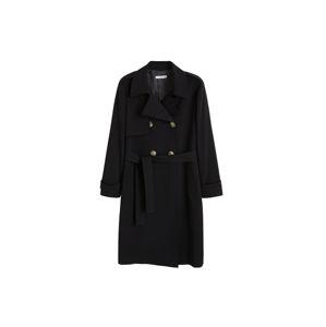 MANGO Prechodný kabát 'Samoa'  čierna