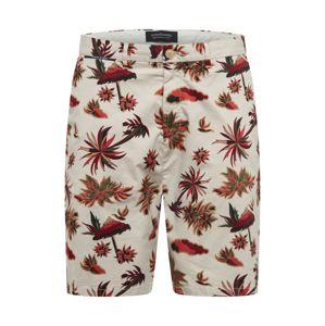 SCOTCH & SODA Chino nohavice  béžová / hrdzavo červená / hnedá
