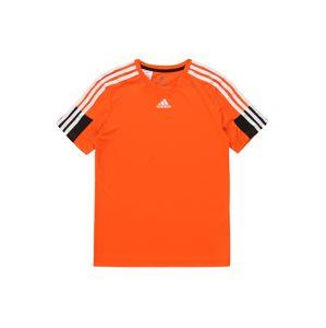 ADIDAS PERFORMANCE Funkčné tričko 'B A.R.'  biela / oranžová / čierna