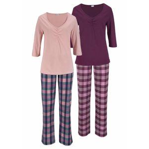 PETITE FLEUR Pyžamo  tmavomodrá / ružová / bordová