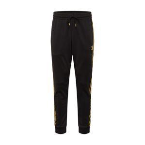 ADIDAS ORIGINALS Nohavice  čierna / zlatá