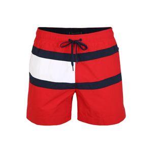 TOMMY HILFIGER Plavecké šortky  biela / červená / čierna