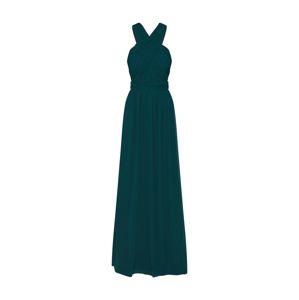 STAR NIGHT Večerné šaty 'long dress chiffon'  smaragdová