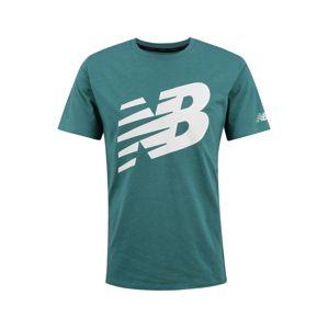 new balance Funkčné tričko 'Heathertech'  zelená / biela